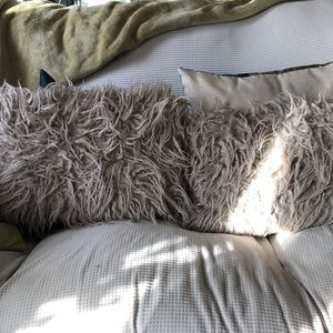 Fuzzy pillow covers